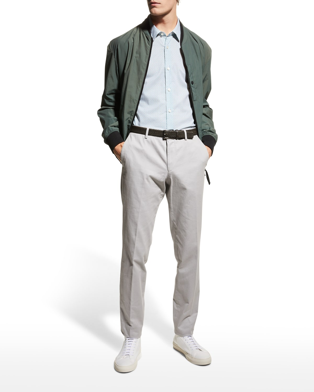 Men's Stretch-Cotton Slim-Fit Trousers