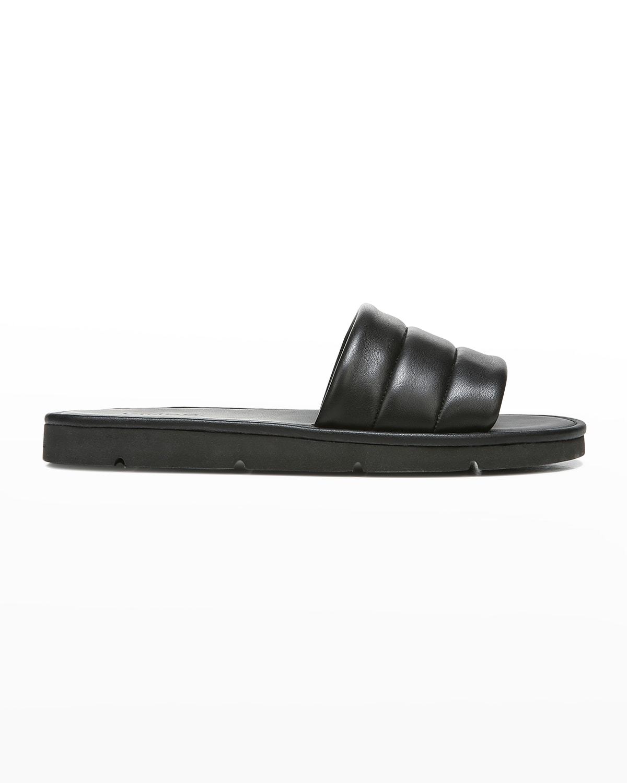 Olina Padded Leather Flat Sandals
