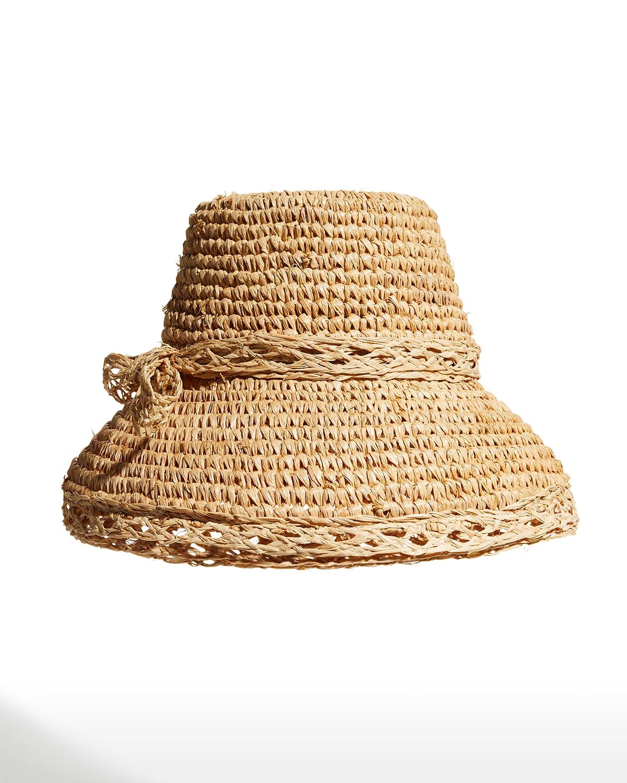 Isobel Bow Woven Raffia Hat