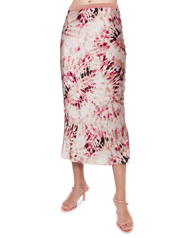 Jessica Tie-Dye Midi Skirt
