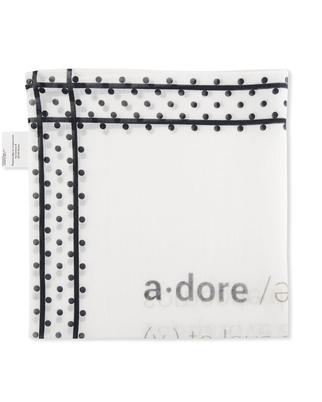 Men's Dotted Typographic Handkerchief