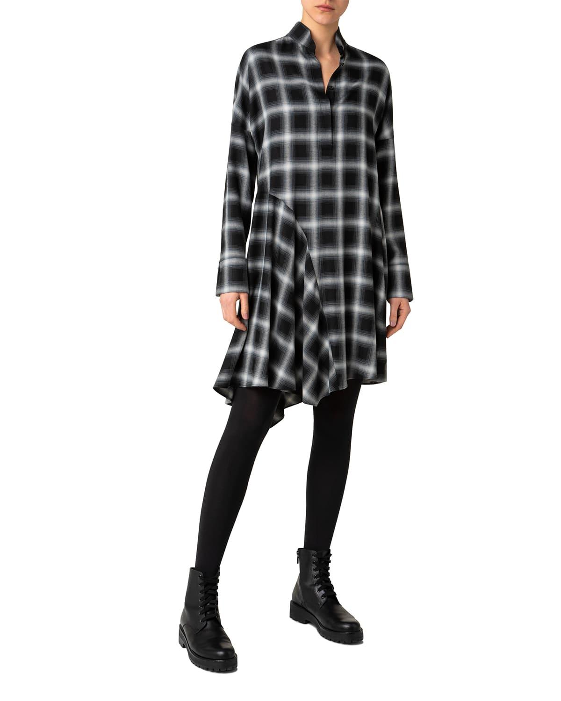 Shadow Tartan Check Dress