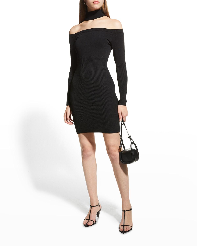 Juliana Knit Off-the-Shoulder Bodycon Dress
