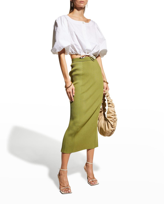 Brooklyn Knit Midi Pencil Skirt