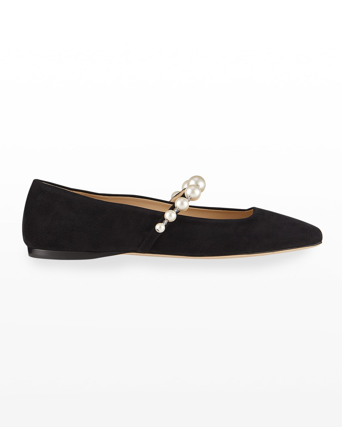 Ade Suede Pearly-Stud Mary Jane Ballerina Flats