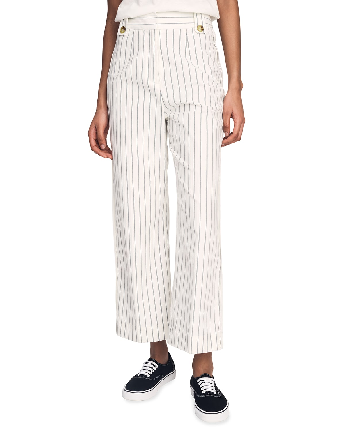 Jerry High-Waist Striped Trousers
