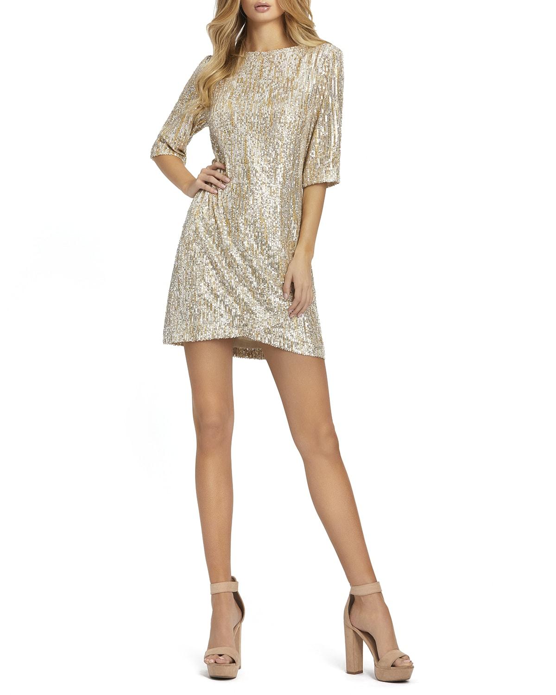 Sequin Mini Shift Dress