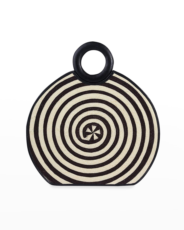 Zenu Two-Tone Cana Flecha Ring Top-Handle Bag