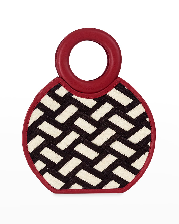 Zenu Braided Cana Flecha/Leather Top-Handle Bag
