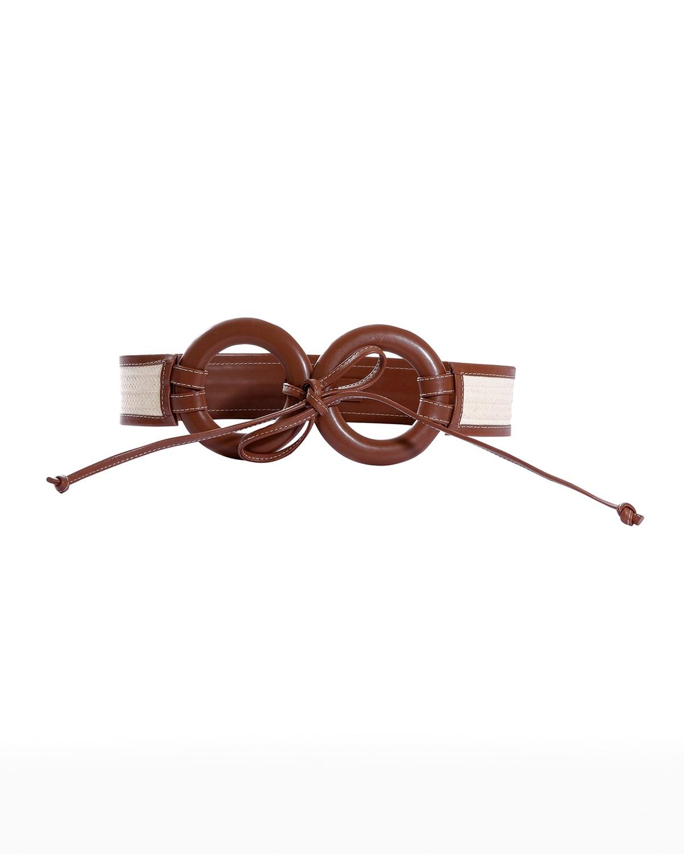 Zenu Ring Leather and Cana Flecha Self-Tie Belt