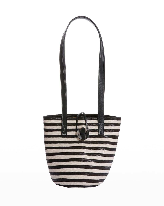 Marcial Striped Cana Flecha & Leather Hobo Bag