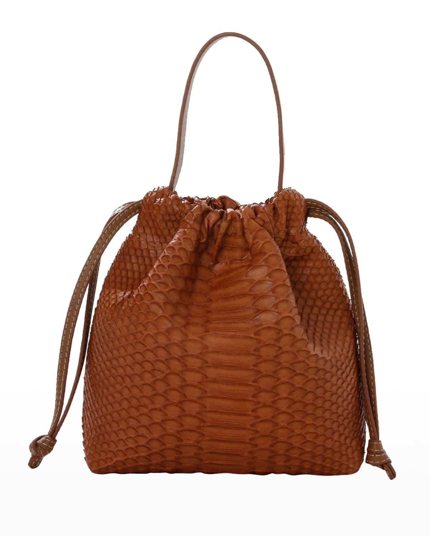 La Rossy Mini Python Minaudiere Bag