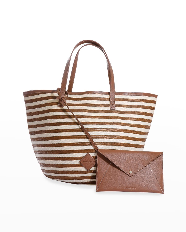 Marcial Two-Tone Woven Cana Flecha Tote Bag