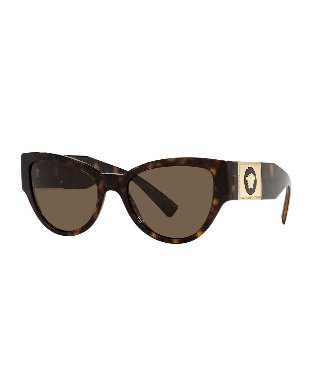 VE439855X Medusa Cat-Eye Sunglasses