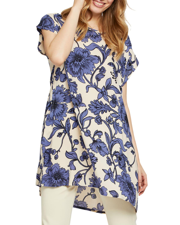 Hasina Floral-Print Tunic