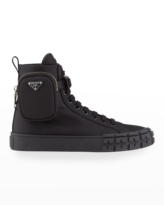 Nylon Zip-Pouch High Sneakers