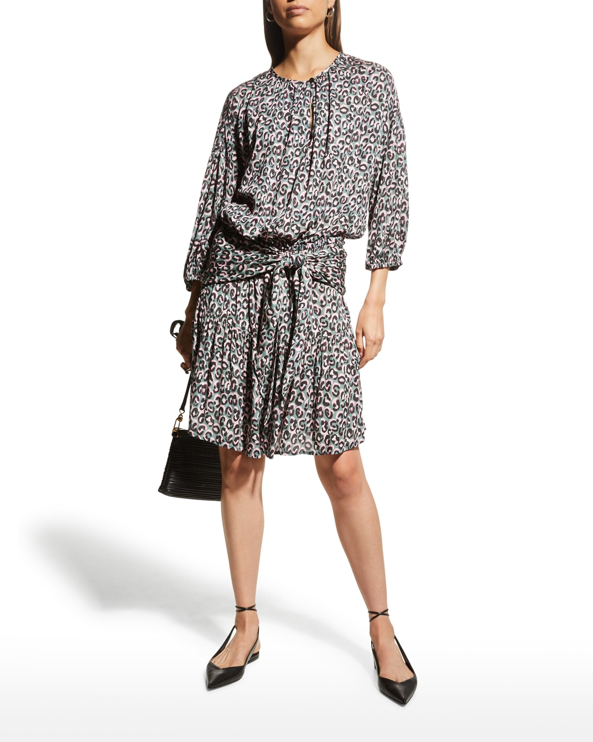 Coco Little Leopard-Print Blouson Dress