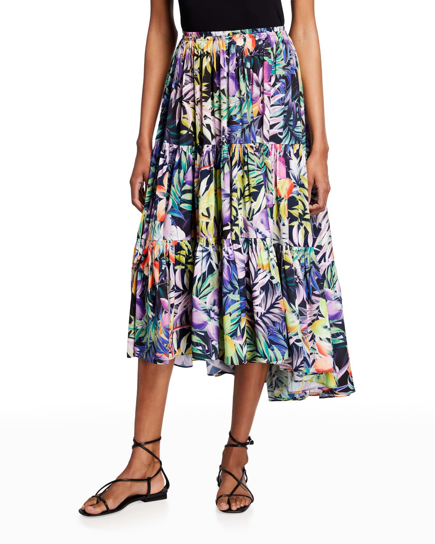 Noe Tiered Midi Skirt
