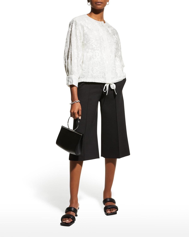 Alina Embroidered Zip-Front Jacket