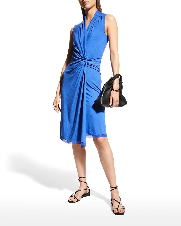 Sandra Ruched Jersey Dress