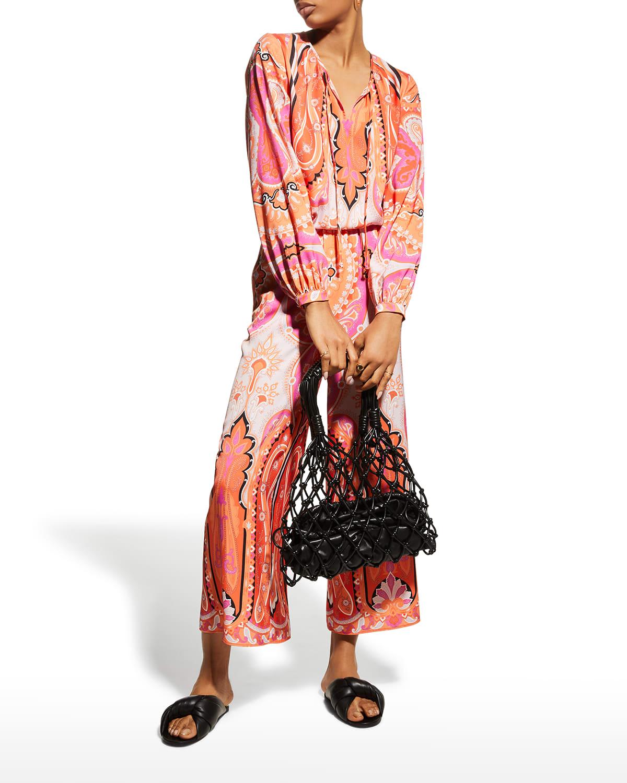 Lou Paisley Long-Sleeve Blouse