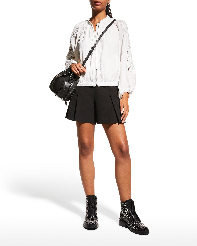 Lenox Blouson-Sleeve Zip Jacket