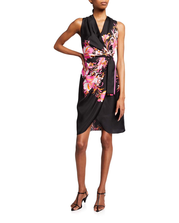 Suzi Wrap-Front Silk Dress
