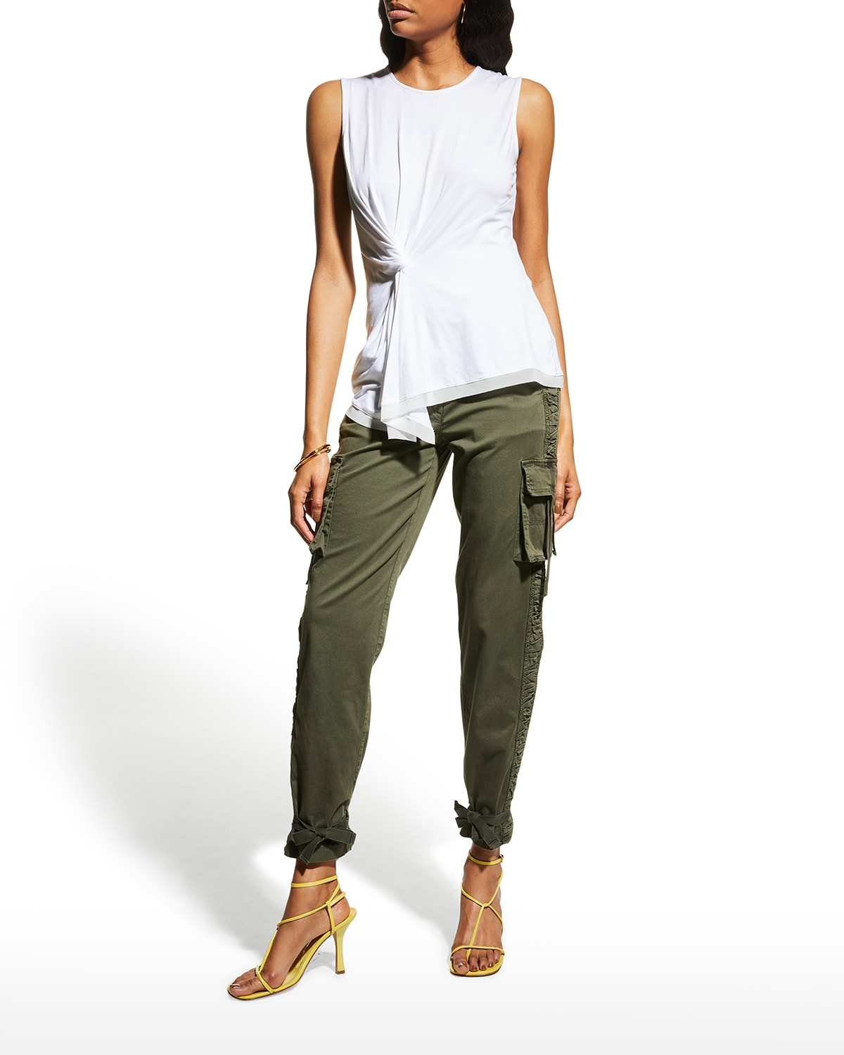 Stevie Knotted Sleeveless Top