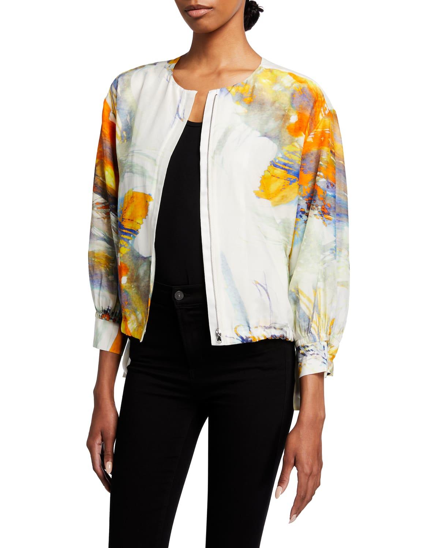 Miley Printed Zip-Front Jacket