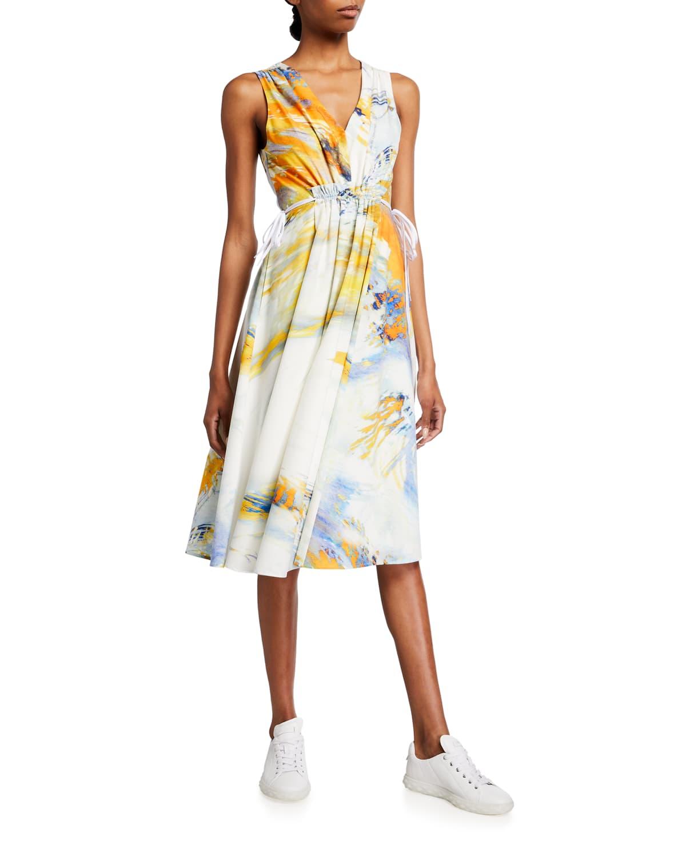 Natalie Side-Tie Sleeveless Dress