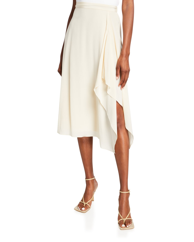 Emma Side-Drape A-Line Skirt