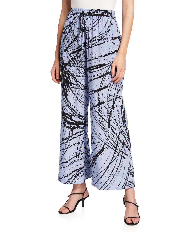 Lillian Abstract-Printed Pants
