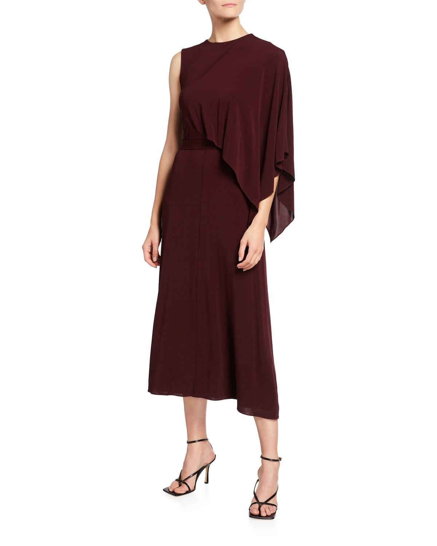 Melissa Drape-Front Jersey Dress