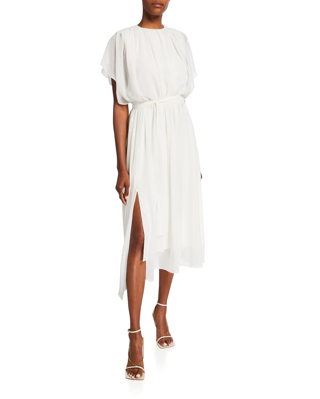 Izzy Shirred-Shoulder Dress