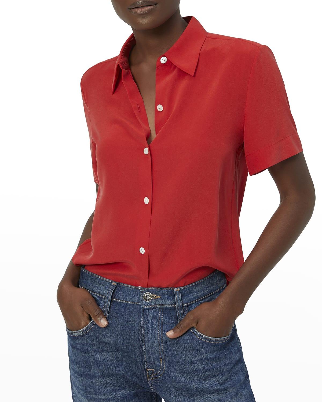 Essential Short-Sleeve Silk Top