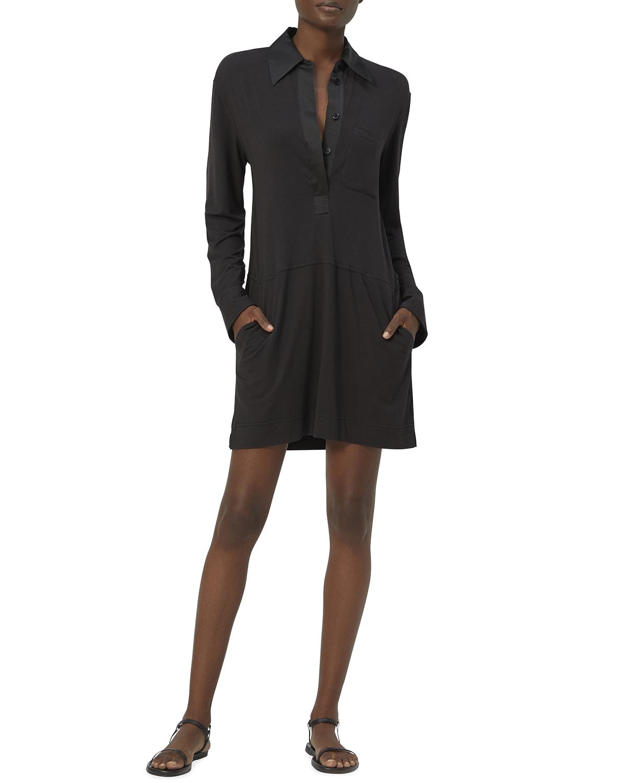 Mavea Long-Sleeve Collared Dress