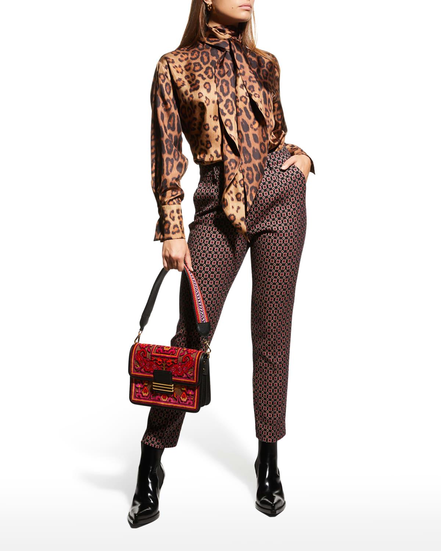 Santa Barbara Cheetah-Print Silk Blouse