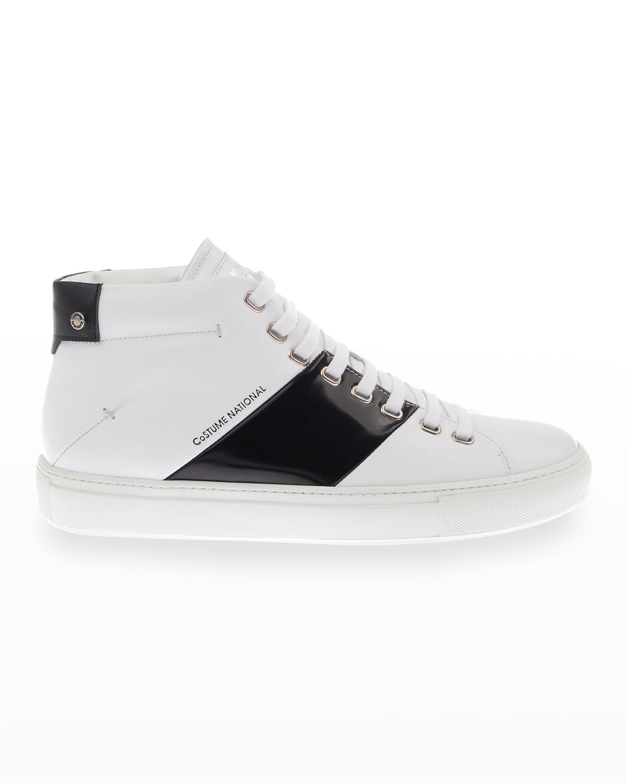 Men's Two-Tone High-Top Sneakers