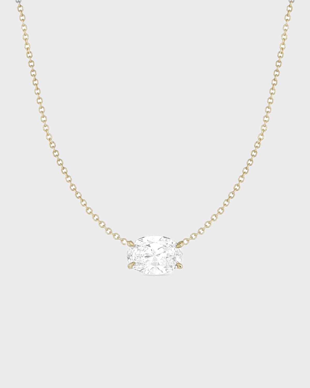 Diamond East-West Choker in Yellow Gold