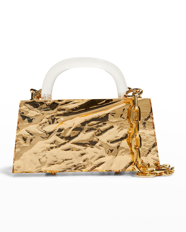 Eva Metallic Top-Handle Bag