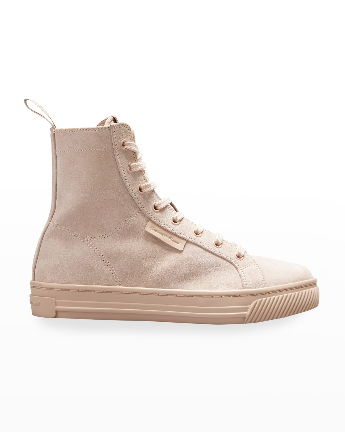 Suede High-Top Court Sneakers