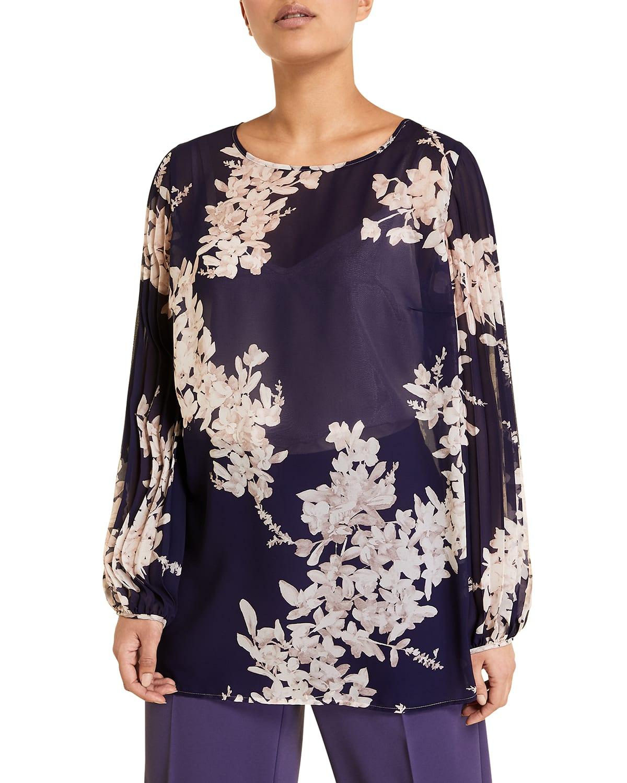 Plus Size Fiorenza Floral Chiffon Blouse