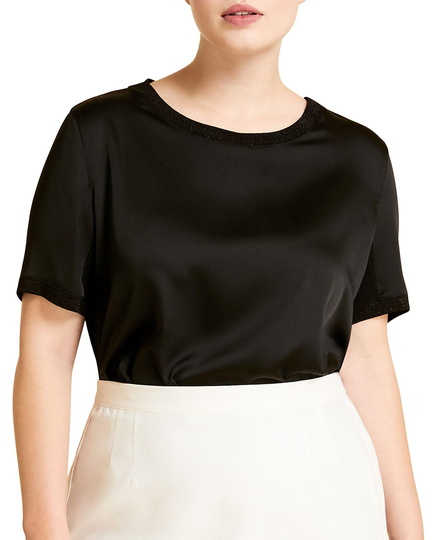 Plus Size Venezia Jersey Crepe T-Shirt