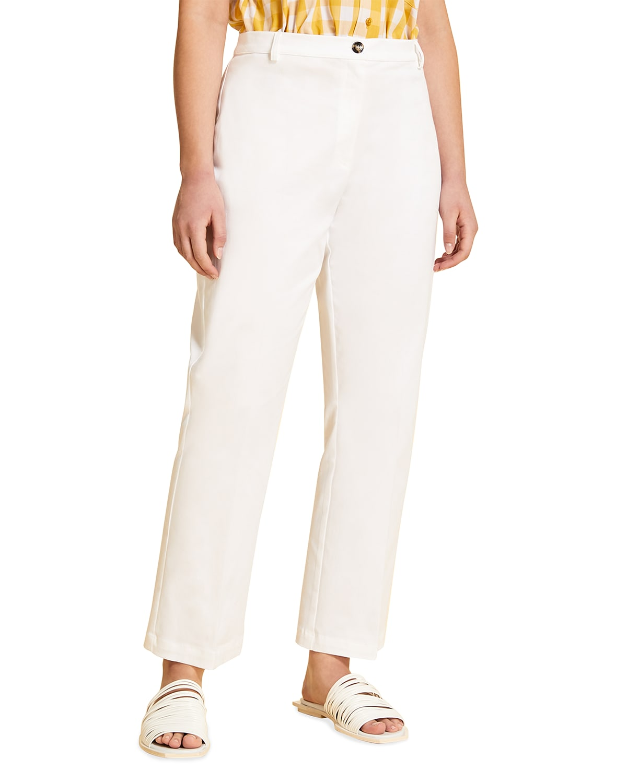 Plus Size Recale Stretch Cotton Ankle Pants
