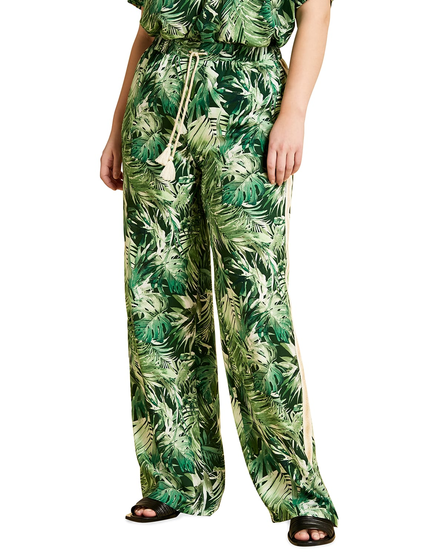 Plus Size Rebeccas Printed Viscose Pants