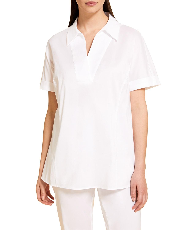 Plus Size Basilare Poplin Shirt