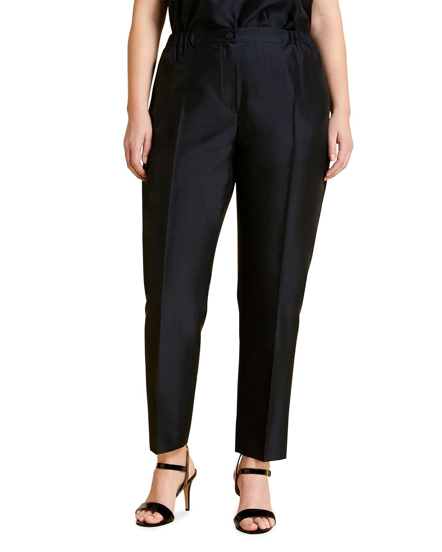 Plus Size Rialto Silk Ankle Pants