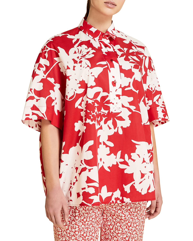 Plus Size Fiacre Oversized Poplin Shirt