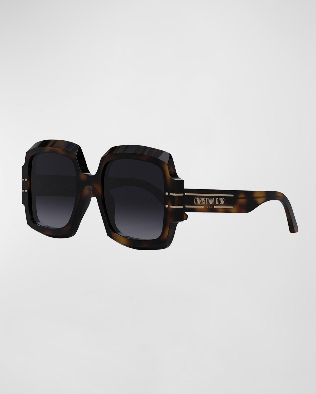 Signature S1U 55mm Oversized Square Acetate Sunglasses