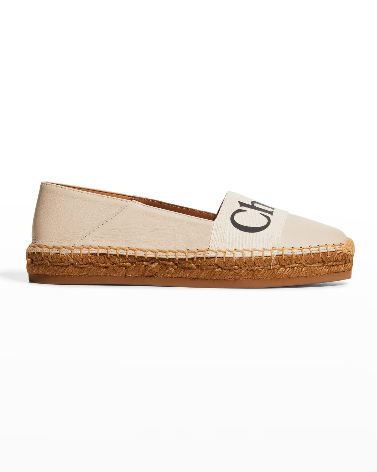 Woody Leather Logo Loafer Espadrilles